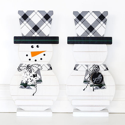 Snowman Decor With Top Hat