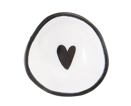 Black Heart Ring Dish