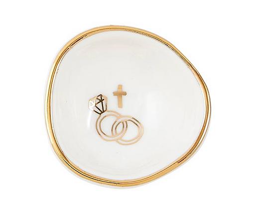 Gold Engagement Ring Dish