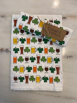 Festive St. Patricks Day Tea Towel