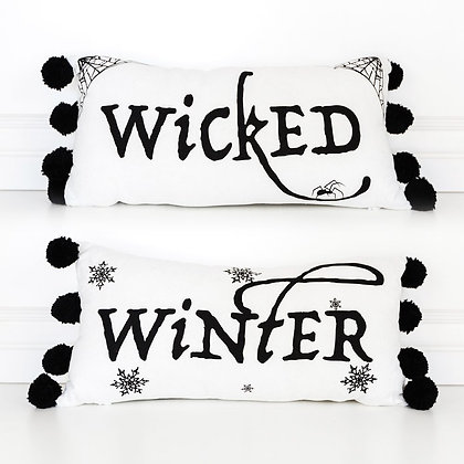 Wicked Winter Transitional Pillow