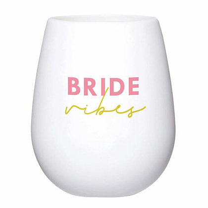 Bride Vibes Silicone Stemless Wine Cup