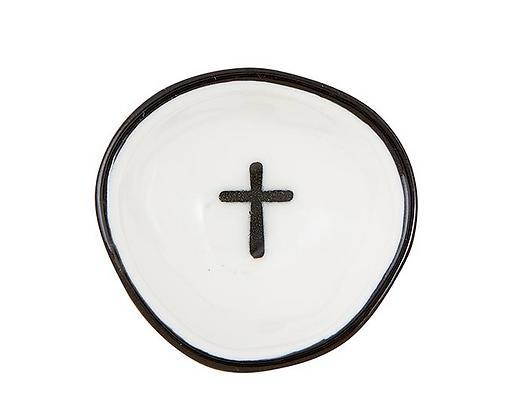 Black Cross Ring Dish