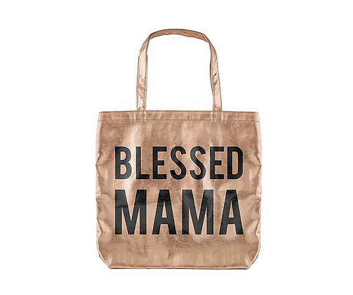 Blessed Mama Metallic Bag