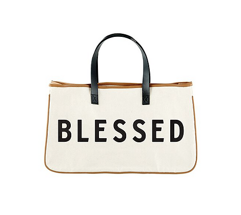 Blessed Large Canvas Bag