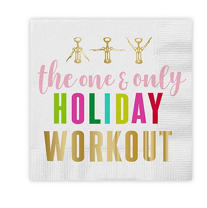 Holiday Workout Napkin
