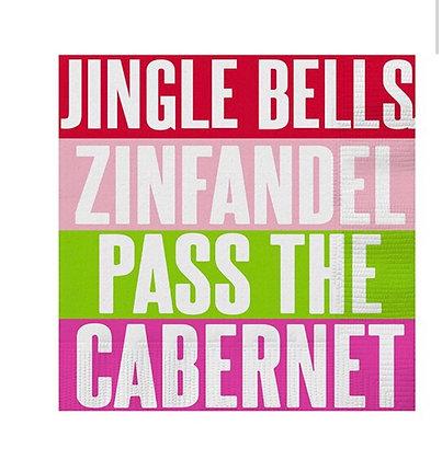 Jingle Bells Wine Holiday Napkin