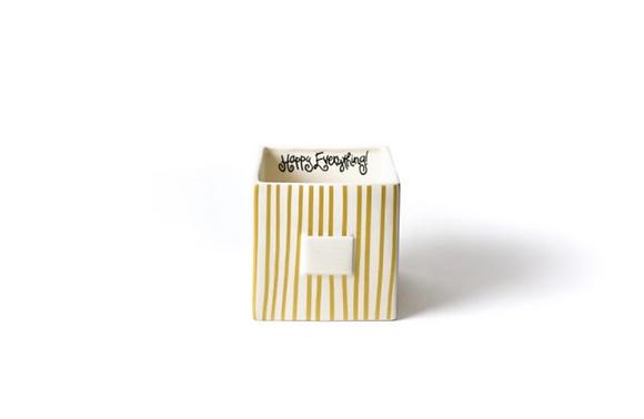 Gold Stripe Medium Nesting Cube