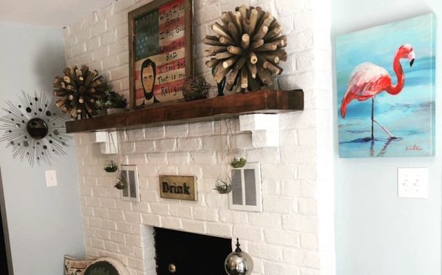 Fresh Fireplace Makeover