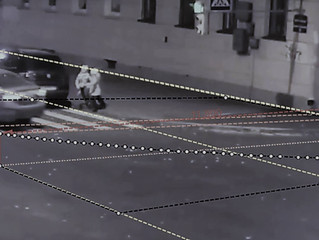 Установление траектории движения автомобиля по видеоизображению