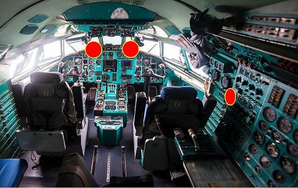 Кабина пилотов Ту-154М