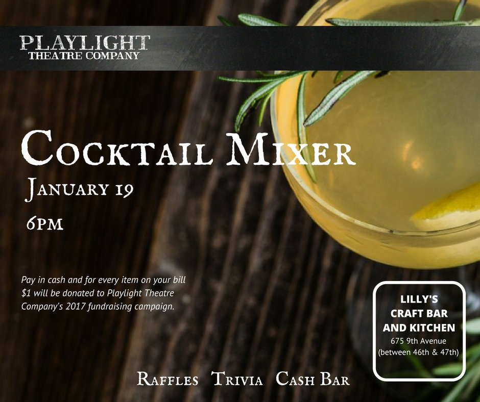 Playlight Theatre Company Cocktail Mixer 2017