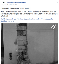 Social Media zur Baustelle
