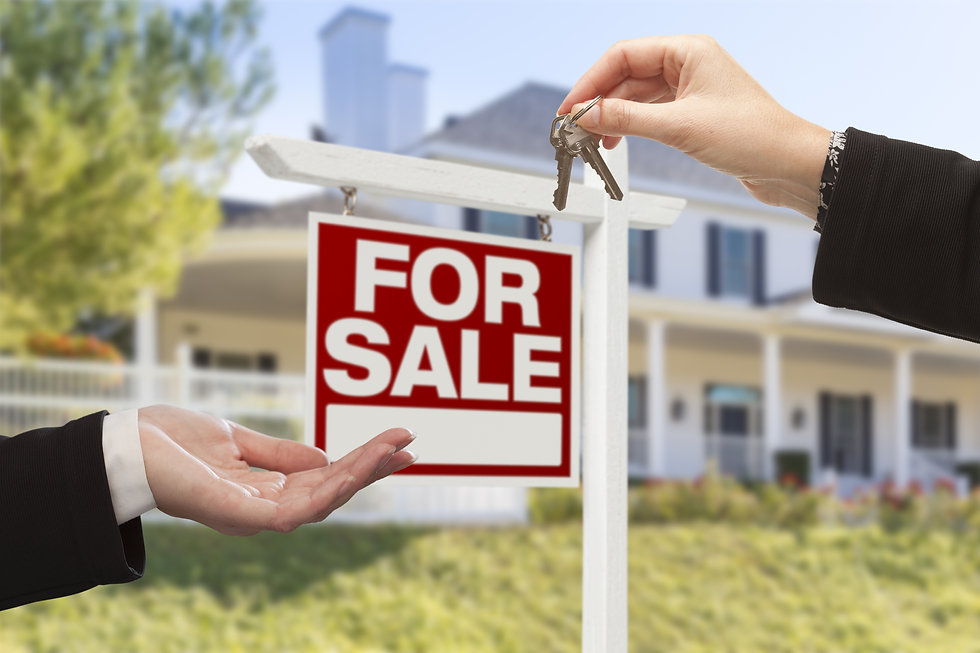 Real Estate Agent Handing Over the House