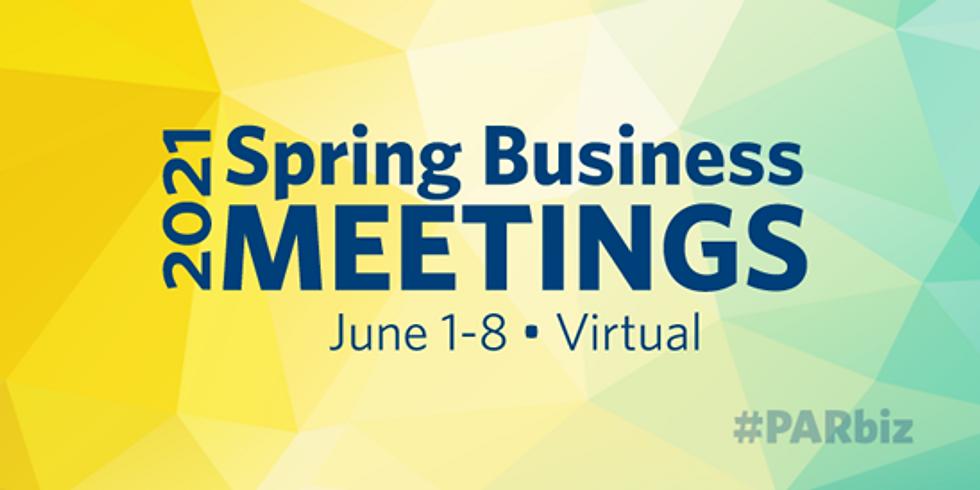 PAR Spring Business Meetings