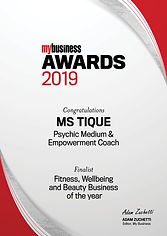 Ms Tique Finalist MBA_2019_Certificate_f