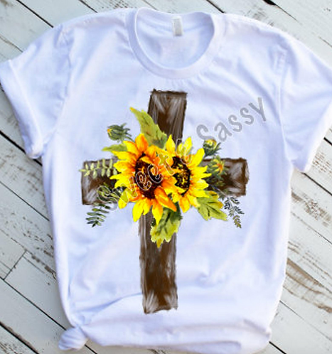 Cross with Sunflowers