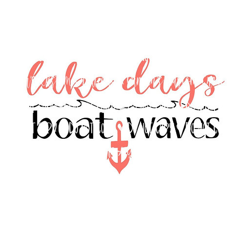 Lake Days, Boat Waves