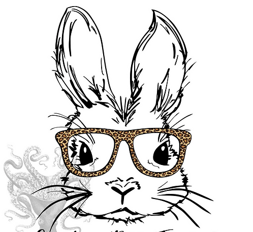 Bunny With Leopard Glasses