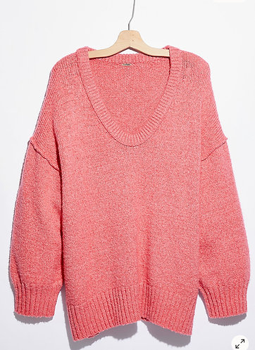 Brookside Tunic Sweater (Pink)