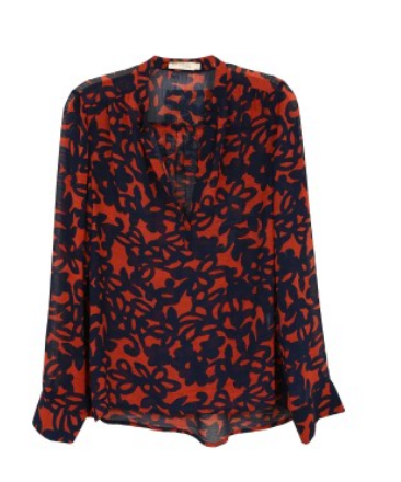 Red/Navy Blouse