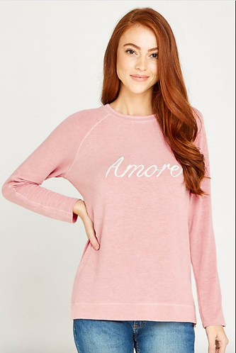 Embroidered Amore Jersey Long Sleeve