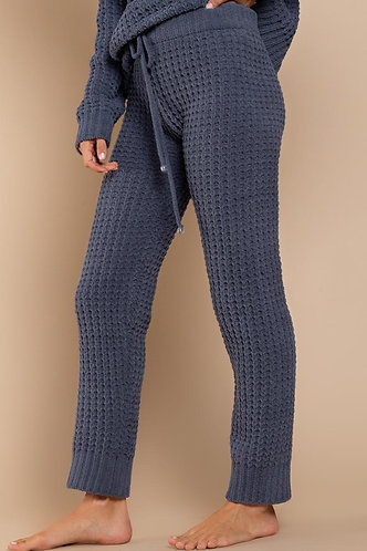 Waffle knitted berber pants