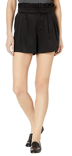 Leah High Waisted Paper Bag Short Casual Shorts