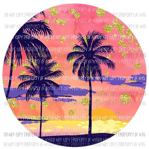 Sunset & Palm Trees