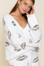 White Rainbow Lips Sweater