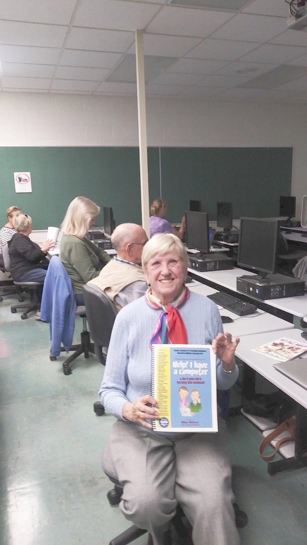 Seniors Studying Computer Basics