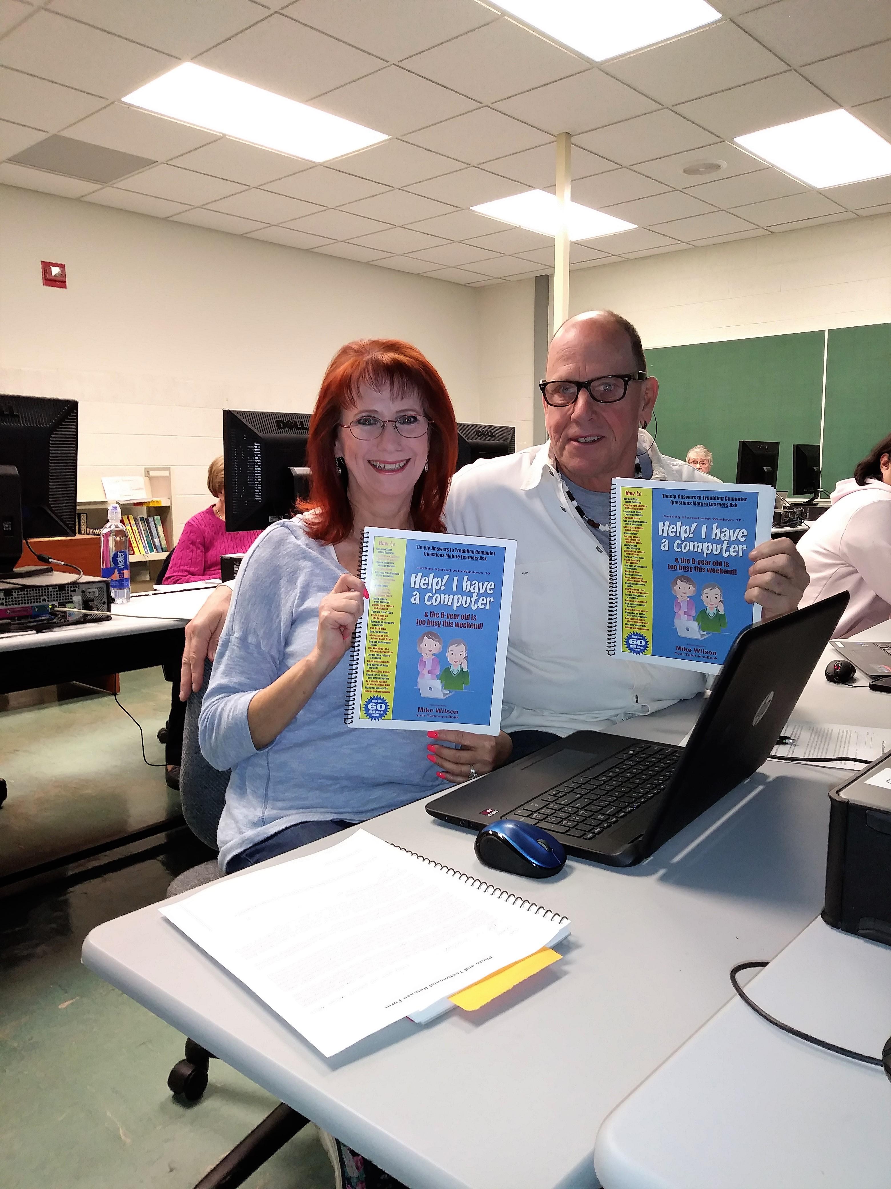 Senior Couple in Computer Class