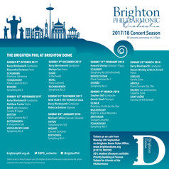 Brighton Philharmonic Orchestra announce programme for 17/18