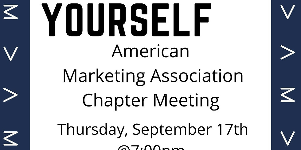 AMA Chapter Meeting- How To Brand Yourself