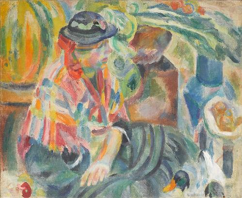 Robert Delaunay, Femme au marché.jpg