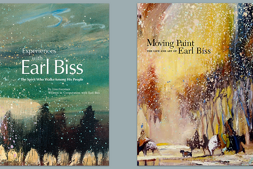 "Both Books ""Experiences with Earl Biss"" and ""Moving Paint"""