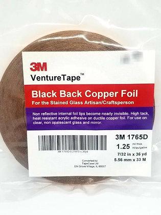 Black Back Copper Foil 7/32