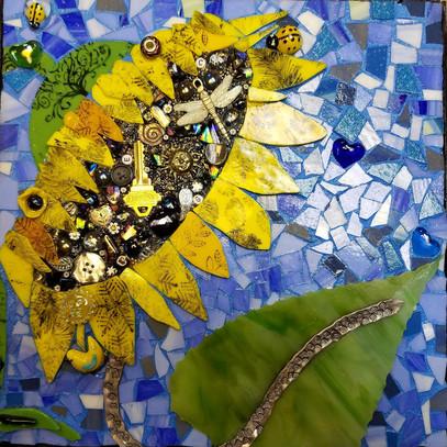 Mosaic Glass Project- Sunflowers