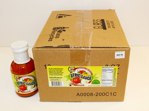 Case of Afric Sauce - Hot  (12  8-ounce bottles)
