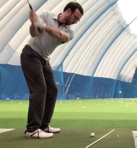 Want to improve your golf game? Use this Driving Range Exercise for a Better Spine Angle