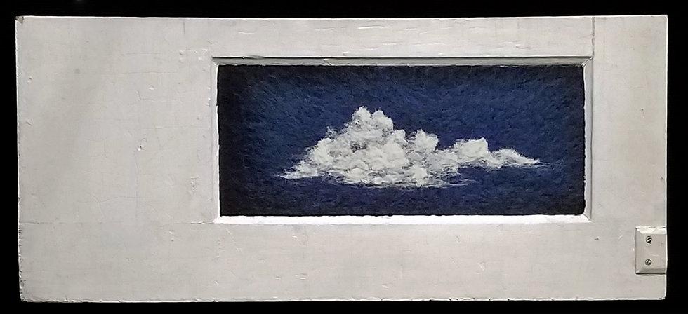 Night Cloud in Door Panel 2