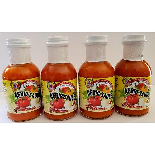 4-pak of Afric Sauce - Variety- 2 mild- 2 hot