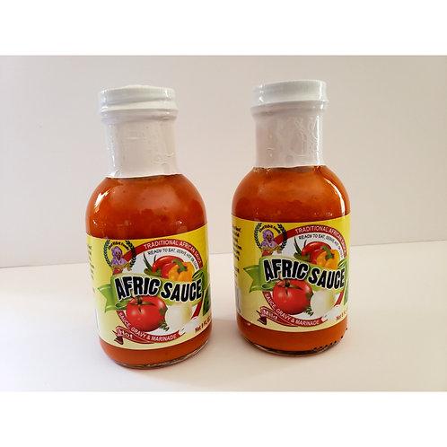 Afric Sauce 2 bottle - Variety Pak- 1 mild, 1 hot
