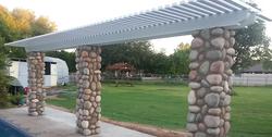 Arbor Pergola Stone Columns