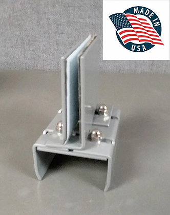 Bracket For Safety Shield On Cubicle Panel Workstation MADE IN USA (2-pack)