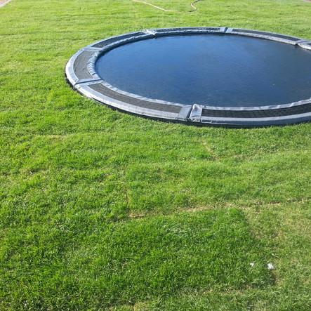 In Ground Trampoline with Turf Sod Grass Scottsdale AZ