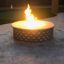 Travertine Fire Pit  Suprise AZ.JPG
