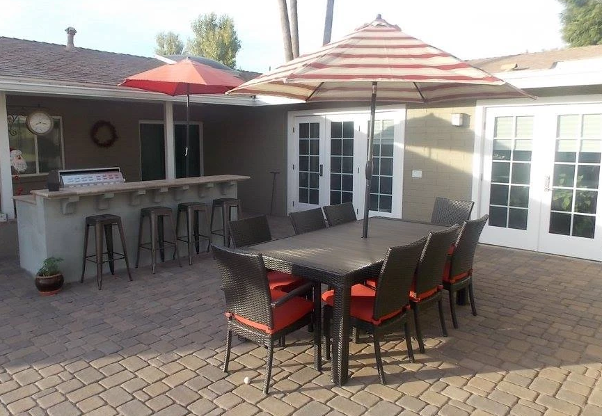 Outdoor BBQ Seating Area Phoenix AZ