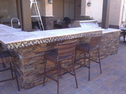 Outdoor BBQ with Stone Chandler AZ