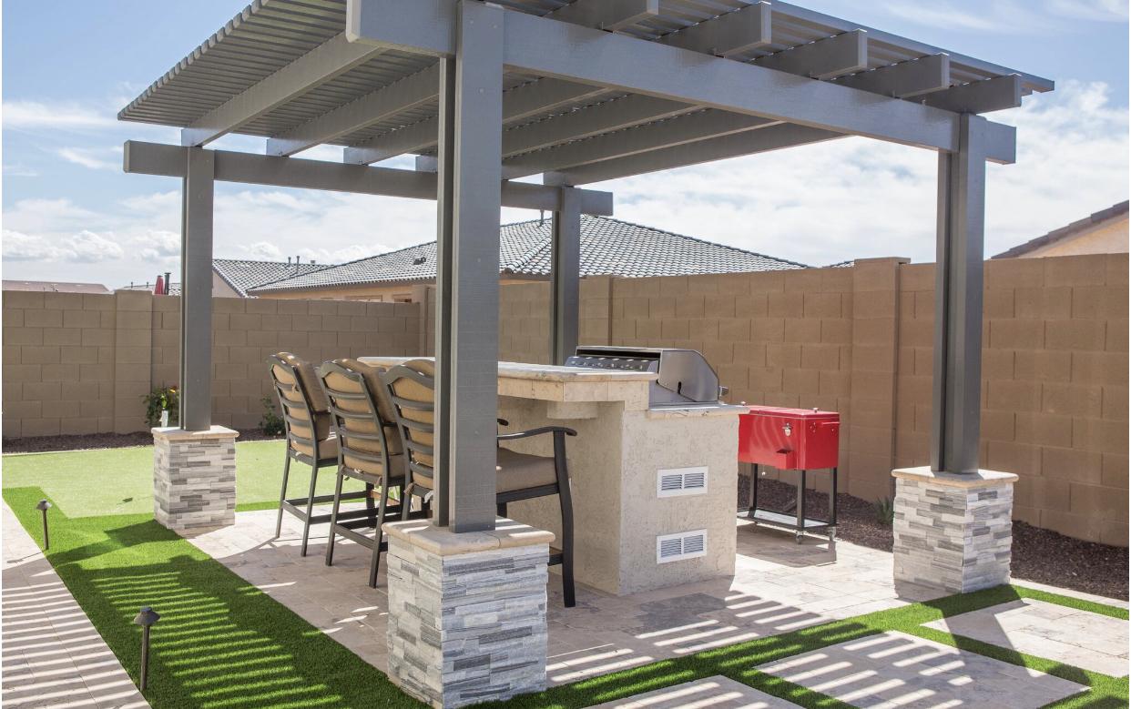 Pergola Shade Structure Cover Laveen AZ.